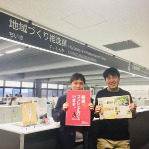 香港メディアの取材を受ける