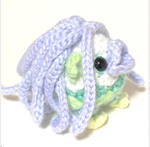 アマビエ様の編み図を作ってみました。