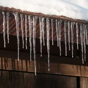 氷柱がきれいでした