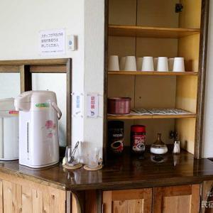 お茶やコーヒーのコーナーはこんな感じで
