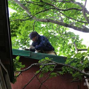 物置小屋のトタン屋根を修繕する