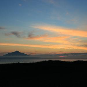 6月23日の利尻島と夕焼け