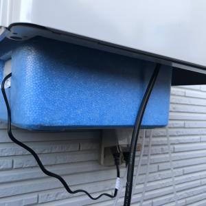 屋外加温システム稼動
