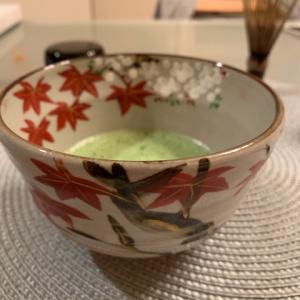 紅葉のお茶碗