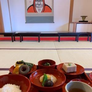 天龍寺で精進料理をいただく