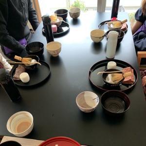 春を感じつつ茶道教室でした