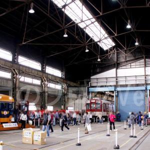 「きんてつ鉄道まつり2018」 高安会場の展示と会場間シャトル列車