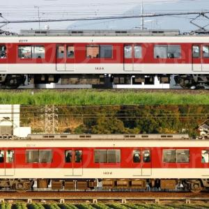 【資料】車両側面-近鉄1422系1424F