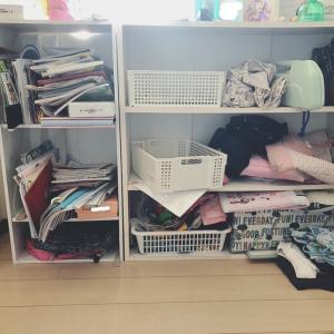 玄関の棚を大掃除〜我が家の学校用の収納棚公開♡〜