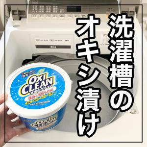 洗濯槽をオキシ漬けしてみた