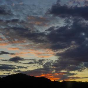 土肥温泉の夕日