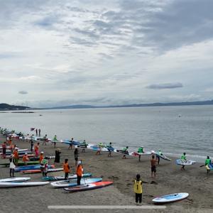 【遊ぶ】津久井浜SUPerマラソン、約10㎞の楽しいレースであった。