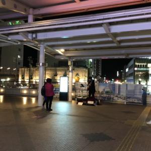 名鉄豊田市駅 夜の駅前風景