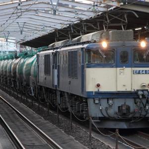 鶴舞駅 EF64重連貨物列車 (2020年2月)