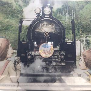 鶴舞駅 SLみなかみ号ポスター