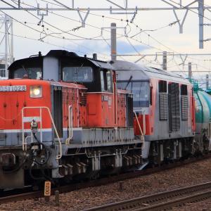 清洲 DD51+DF200重連貨物列車 (2020年7月)