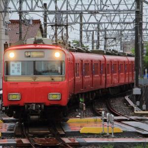 名鉄知立駅 三河線振替輸送臨時列車 (2020年7月)