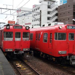 名鉄豊田市駅 普通列車の並び (2020年9月)