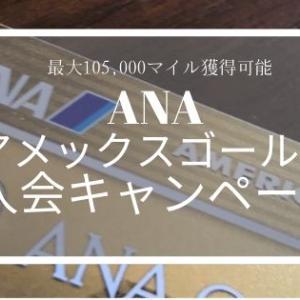 【2020年3月最新】最大10万5千マイルが貯まる「ANAアメックスゴールド入会キャンペーン」がすごい!