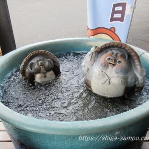 NHK「サンドのお風呂いただきます」がスカーレットSPで甲賀市信楽にやってきた