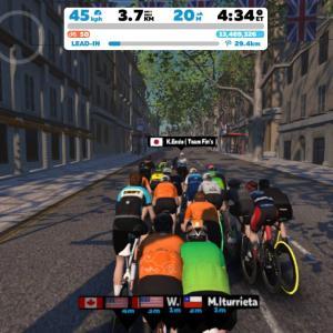 Zwift DE 2 RACE 43m20s, 263W & 1h21m46s, 258W