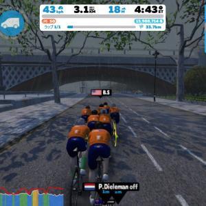 Zwift DE RACE 59m15s, 260W(NP 266W)