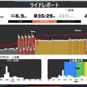 L6:30s/L1:30s*5set →L4:15min DE 20min, 286W