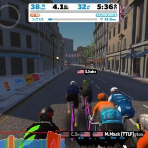 Zwift DE RACE 1h22m02s, 264W(NP 274W)