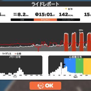 Zwift DE RACE 48m44s, 284W(NP 291W)