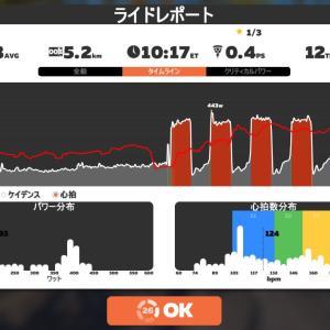 Zwift DE RACE 38m20s, 265W(NP 281W)