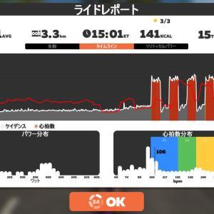 Zwift DE 2 RACE 1h05m11s, 259W & 47m15s, 240W