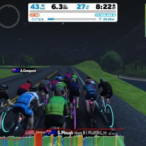 Zwift DE RACE 1h06m22s, 255W(NP 259W)