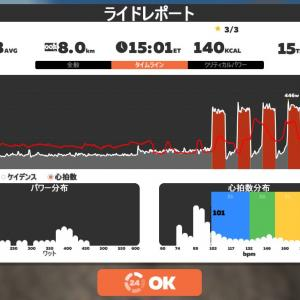 Zwift DE RACE 50m11s, 258W(NP 265W)