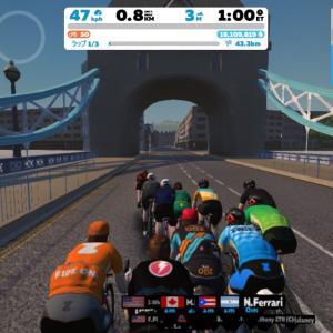 Zwift DE RACE 1h06m54s, 269W(NP 288W)