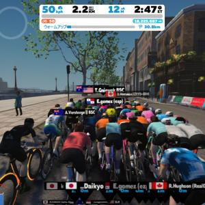 Zwift DE 2 RACE 43m00s, 256W & 50m24s, 258W