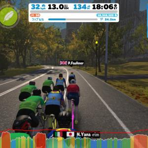 Zwift DE RACE 53m42s, 268W(NP 280W)