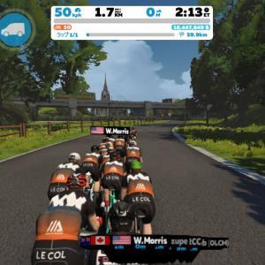 Zwift DE RACE 1h22m19s, 262W(NP 267W)