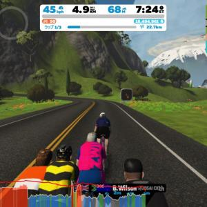 Zwift DE RACE 40m55s, 261W(NP 285W)