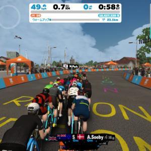 Zwift DE 2 RACE 32m05s, 268W & 1h00m47s, 256W