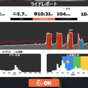 Zwift DE 2 RACE 48m33s, 279W & 39m42s, 286W