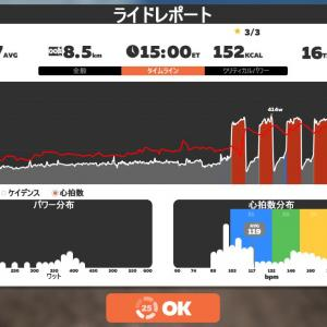 Zwift DE 2 RACE 1h06m08s, 269W & 49m16s, 257W