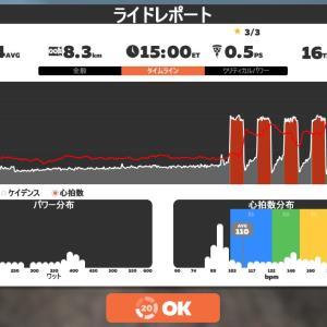 Zwift DE 2 RACE 1h12m34s, 255W & 41m42s, 267W