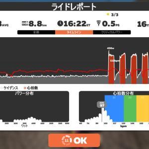 Zwift DE 2 RACE 50m06s, 261W & 45m18s, 237W