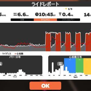 Zwift DE RACE 50m20s, 266W(NP 270W)