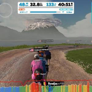 Zwift DE RACE 47m43s, 267W(NP 266W)