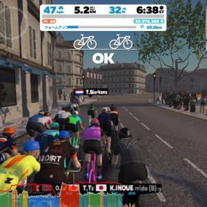 Zwift DE RACE 43m47s, 250W(NP 251W)
