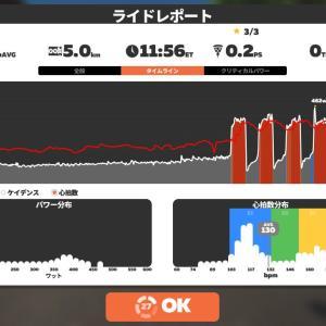 Zwift DE 2 RACE 67m10s, 261W & 46m01s, 233W