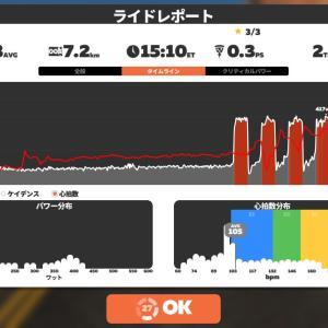 Zwift DE 3 RACE 49m, 249W&53m, 232W&32m, 253W