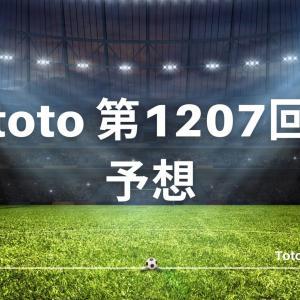 第1207回 toto(11/25) くじ予想