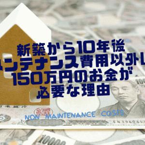 新築から10年後 メンテナンス費用以外に150万円のお金が必要な理由